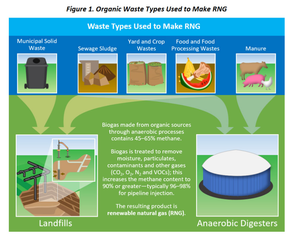 Organic waste used for production of RNG